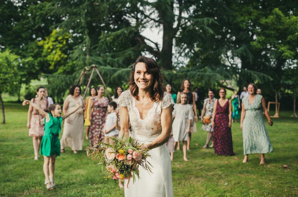 lancer bouquet mariage